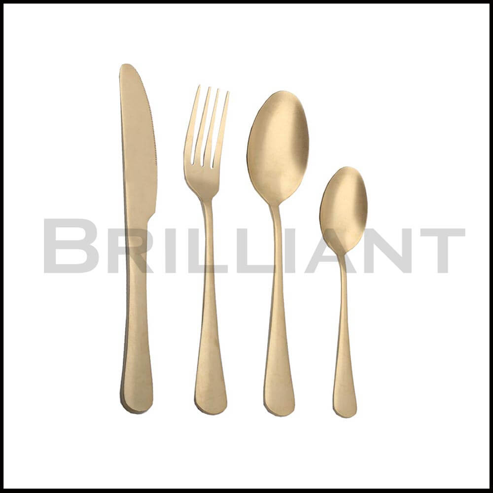BC2005 vintage gold stainless steel cutlery
